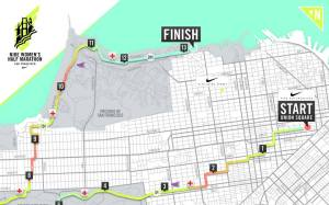 Nike Womens Half 2015 Course Map